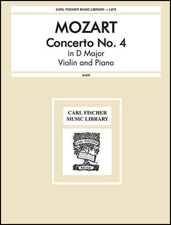 Concerto No. 4 in D K. 218-Violin Solo