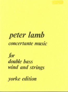 Concertante Music-String Bass