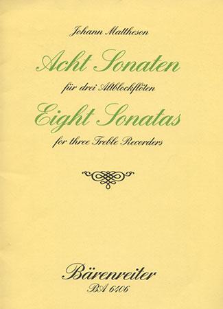 Eight Sonatas Op. 1-Flute Trio