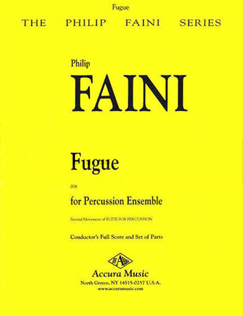 Fugue for Percussion Ensemble