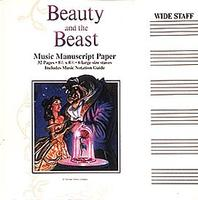 Beauty and the Beast Manuscript Paper