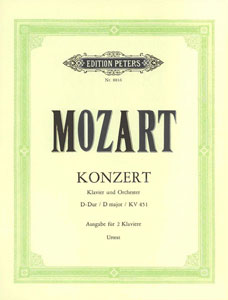 Concerto, No. 16 in D Major, K. 451