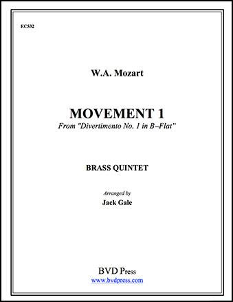 Divertimento No. 1 in B Flat-Brass Qui