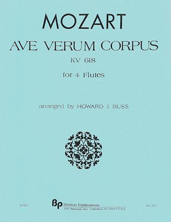 Ave Verum Corpus Kv618-Flute Quartet