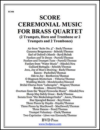 Ceremonial Music for Brass Quartet Cover