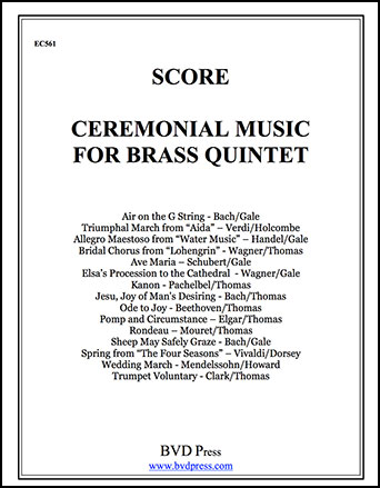 Ceremonial Music for Brass Quintet Cover