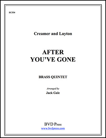 After You've Gone-Brass Quintet