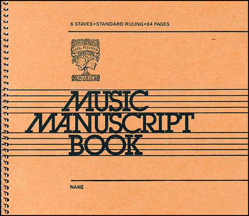 Music Writing Book-Six Staves