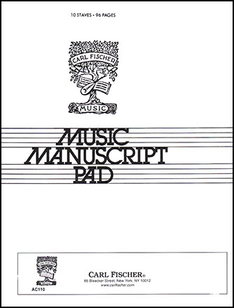 Music Writing Pad-10 Staves