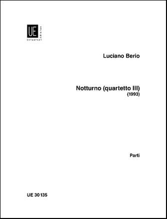 Notturno (Quartet No. 3) parts