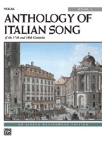 Anthology of Italian Songs No. 1