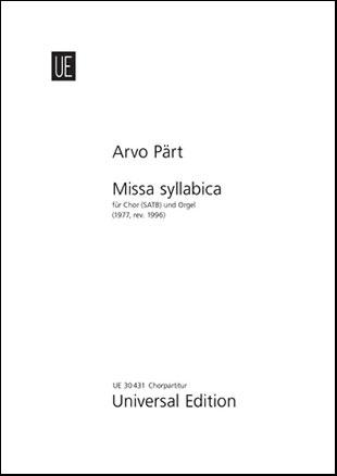 Missa Syllabica-Choral Score