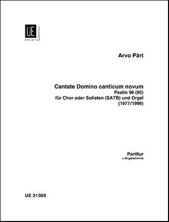 Cantate Domino Canticum Novum-Score