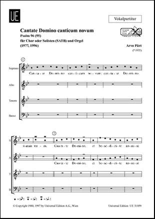 Cantate Domino Canticum Novum-Chor