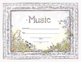 Award Certificates - Sacred Music