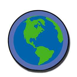 Chart Stickers-Globe