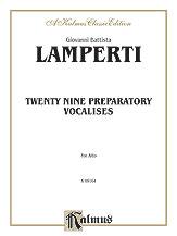29 Preparatory Vocalises-Alto