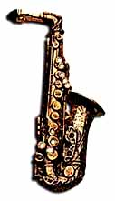 Alto Sax Lapel Pin