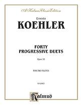 40 Progressive Duets Op. 55-2 Flutes
