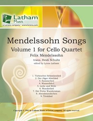 Mendelssohn Songs No. 1-Cello Quartet