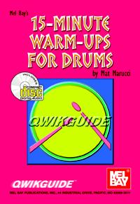 15 Minute Warm Ups for Drums-Book and CD