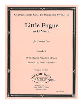 Little Fugue in G Minor-Clarinet Trio