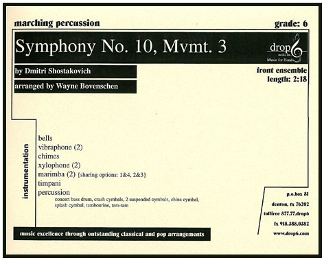 Symphony No. 10-Mvmt 3-Percussion Ense