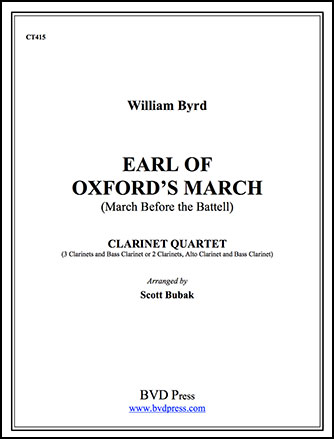 Earl of Oxford's March-Clarinet Qrt