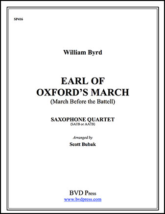Earl of Oxford's March-Sax Quartet