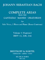 Complete Arias from the Cantatas, Masses, Oratorios, Vol. 1