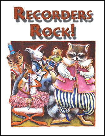 Recorders Rock Poster