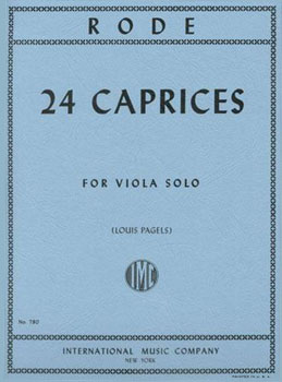24 Caprices for Solo Viola