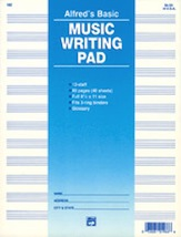 Alfred's Basic Music Writing Pad: 40 Separate Sheets with 12 Staves