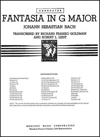 Fantasia in G Major