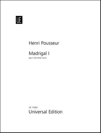 Madrigal No. 1-Clarinet Solo