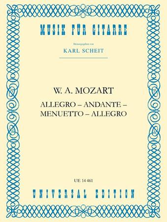 Allegro Andante Menuetto, K. 487