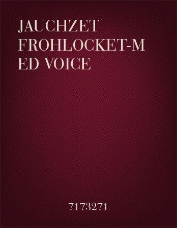 Jauchzet Frohlocket-Med Voice