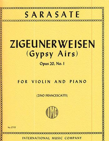 Zigeunerweisen Op. 20-Violin/Piano