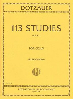 113 Studies string sheet music cover