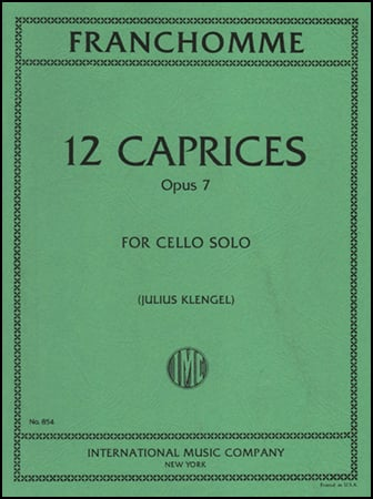 12 Caprices Op. 7-Cello
