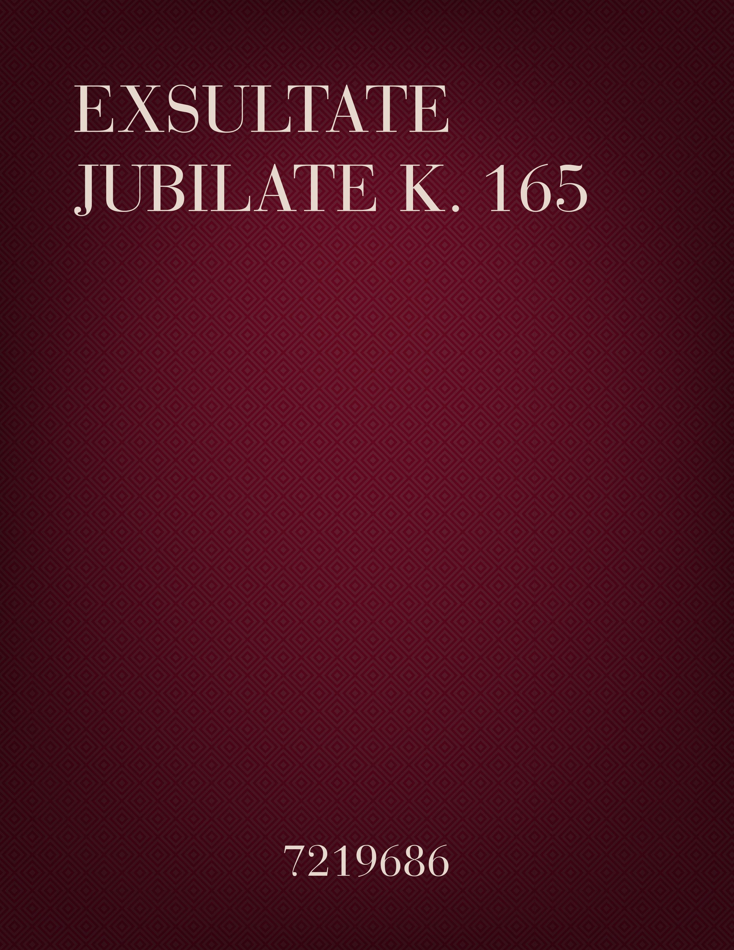 Exsultate Jubilate K. 165