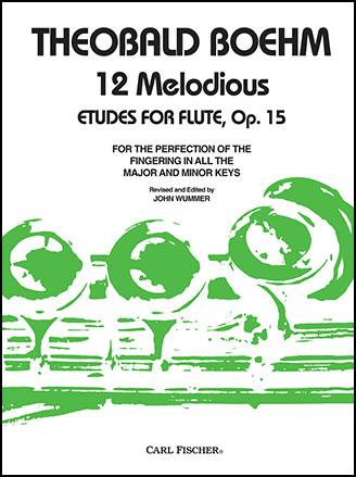 12 Studies Op. 15-Flute