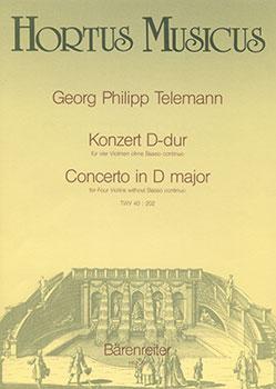 Concerto in D Major-Four Violins