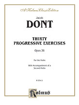 30 Progressive Exercises-Violin