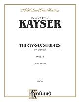 36 Studies Op. 43-Viola