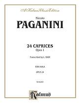 24 Caprices Op. 1-Viola