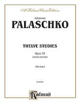12 Studies Op. 55-Viola