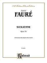 Sicilienne Op. 78-Cello/Piano