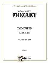 Two Duets K. 423/K. 424-Violin/Viola