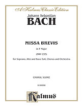 Missa Brevis in F Major-Vocal Score